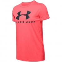 Koszulka Under Armour Graphic Sportstyle Classiccrew koralowa 1346844 820