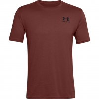 Koszulka męska Under Armour Sportstyle Left Chest SS bordowa  1326799 688