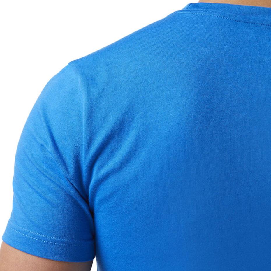 Koszulka męska Reebok QQR Linear Read niebieska CW5374